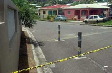 Image: Police cordoned off area