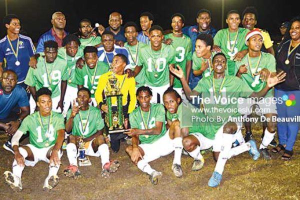 Image: SLFA/Vizions Men's Under–21 Champions, Vieux Fort South. (Photo: Anthony De Beauville)