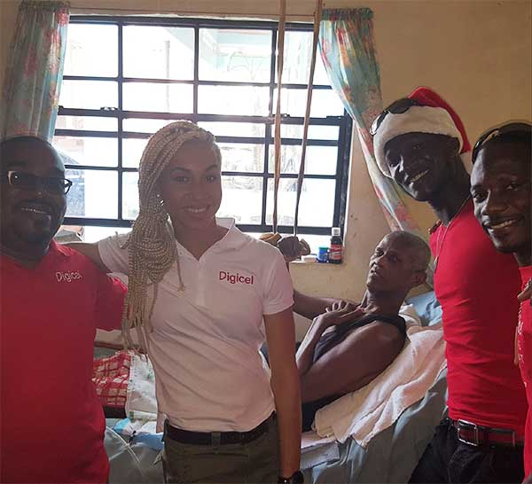 Image: Team Digicel visits and gifts sick and shut-in in Vieux-Fort.