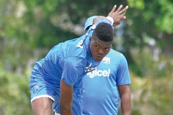 Image: Test seamer Alzarri Joseph … in the Hurricanes 13-man squad to face Volcanoes.