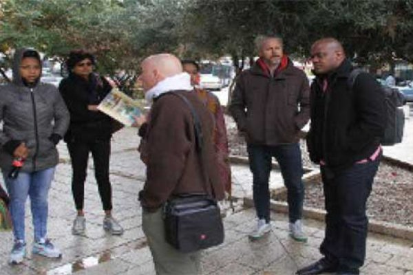 Image: The eight CARICOM journalists visited a number of historical sites in Israel, including Nazareth. (CMC photo)