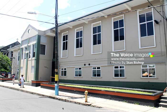 Image: The newly-refurbished courthouse on Peynier Street remains closed nearly a year after works were said to be completed. [PHOTO: Stan Bishop]