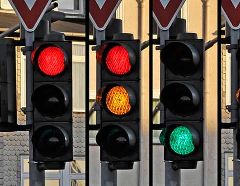 Traffic lights illustration