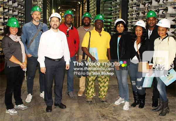 Image: Caribbean journalists and plant officials during a tour of the desalination plant at Ashkelon in December. [PHOTO: Stan Bishop]