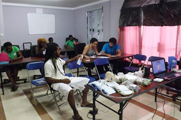 Image: EquidGel being presented at a seminar in Gros Islet on December 18