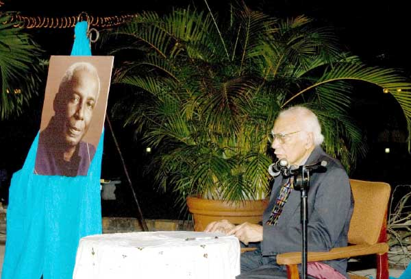 Image: The late Professor George Eaton addresses participants at the 2010 Rex Nettleford Symposium held by the Open Campus's Hugh Lawson Shearer Trade Union Education Institute (HLSTUEI) on April 7, 2010 at the Mona Visitor's Lodge.