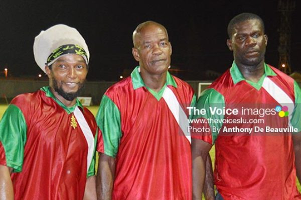 Image: Vieux Fort South goal scorers on Saturday. (Photo: Anthony De Beauville)