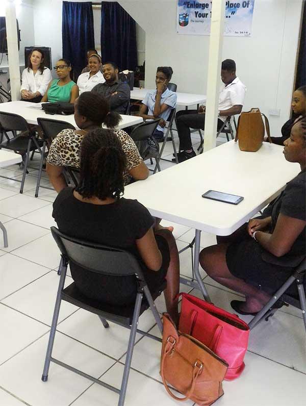 Image: Young entrepreneurs undergoing training.