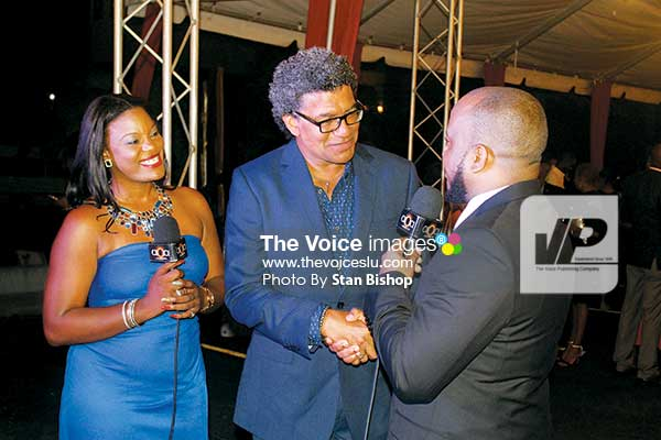 Image: Minister for Commerce, Industry, investment, Enterprise Development and Consumer Affairs, Bradley Felix, being interviewed by the show's hosts.