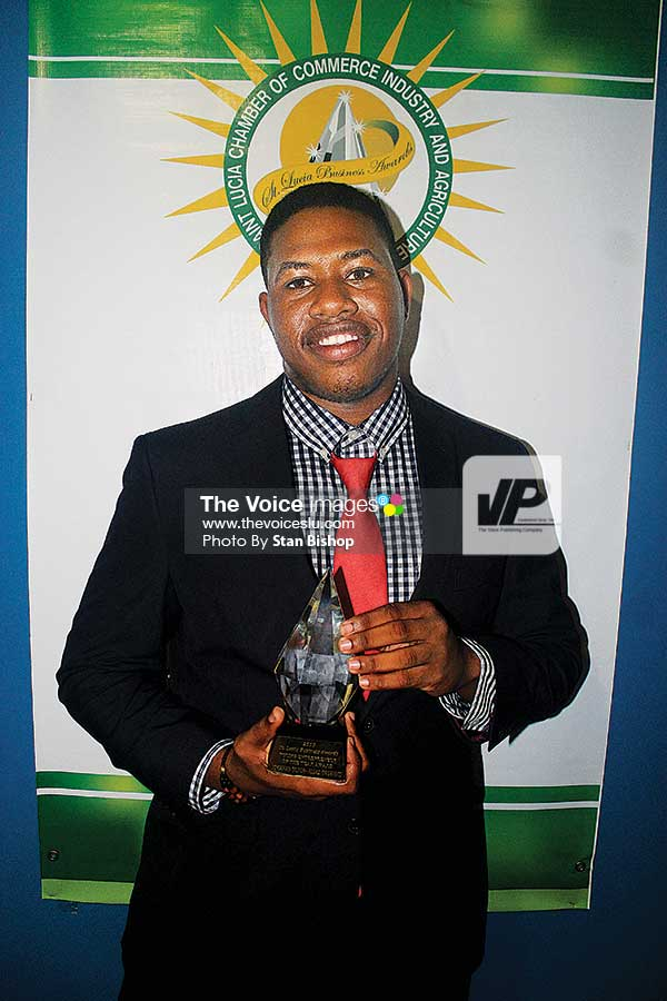 Image: Algas Organics' JohananDujon won the Award for Young Entrepreneur.