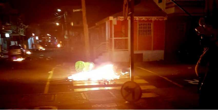 Image: A scene in Roseau on Tuesday night. [PHOTO: Dominica News Online]