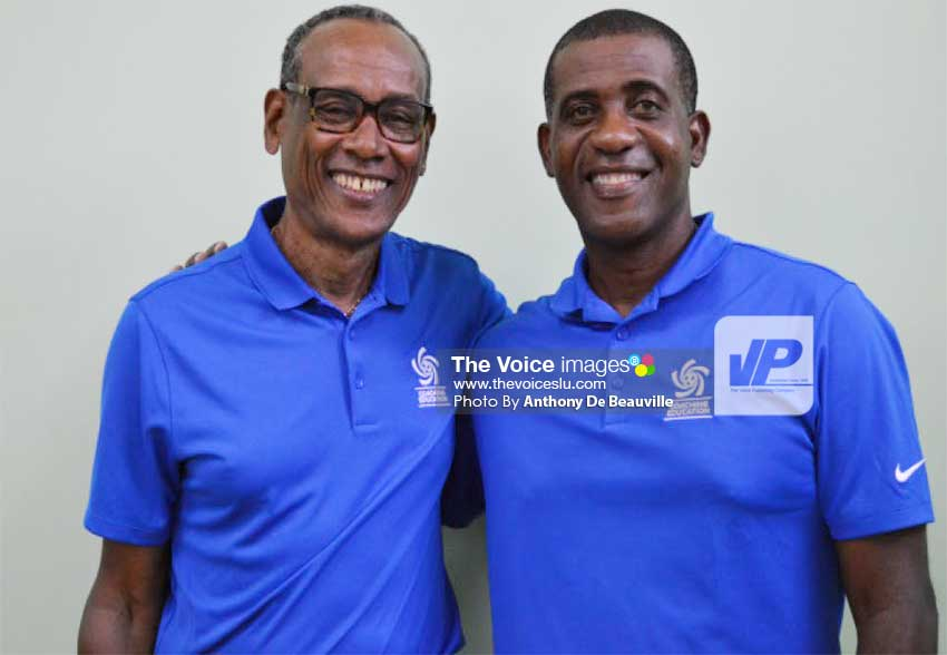 Image: CONCACAF Instructors Vinmore Blaine and Lenny Lake. (PHOTO: Anthony De Beauville)