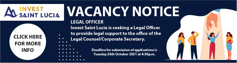 Legal Officer wanted @ Invest Saint Lucia.