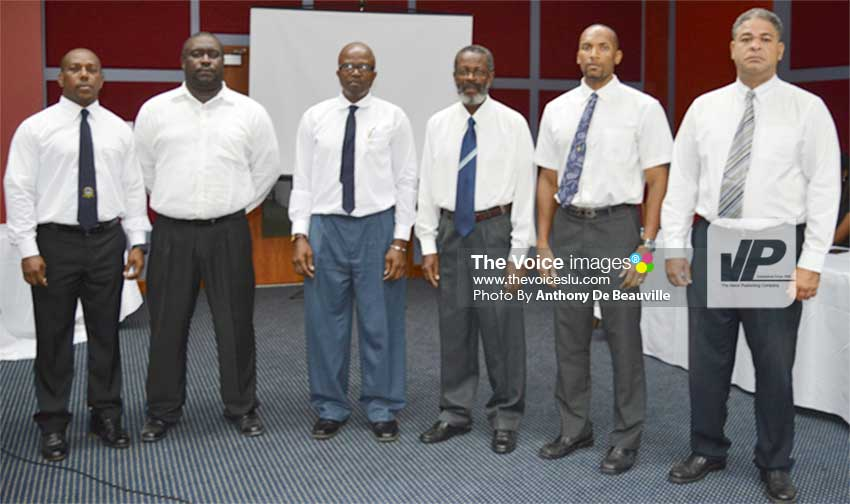 Image: (l-r) KFSL executive members – Kendall Burton, George Radjou, Oliver Lawrence, Ezra Jn Baptiste, Karin Sifflet and Trevor Bristol (Anthony De Beauville)