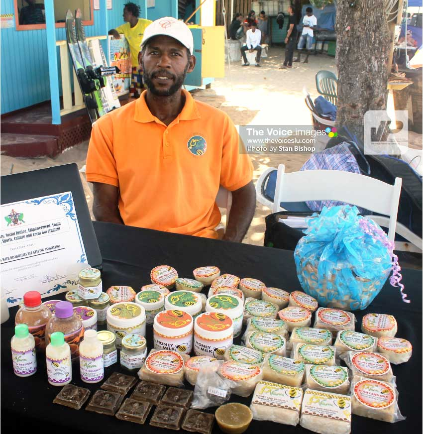 Image: Mark Remy at last month's marketplace activity hosted by Bay Gardens Resorts. [PHOTO: Stan Bishop]