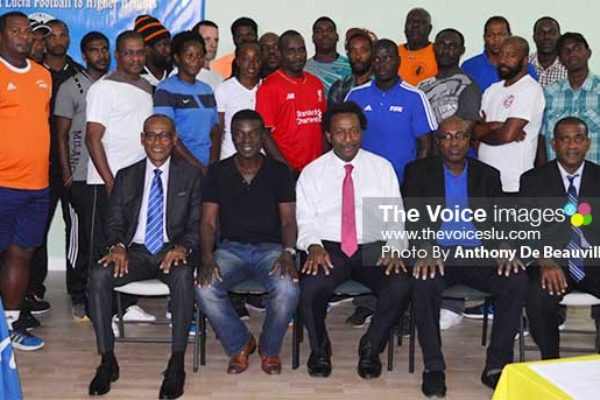 Image: Photo moment for CONCACAF Instructors, SLFA Officials and Course Participants at Friday opening (Photo: Anthony De Beauville)