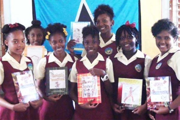 Image: Some of the young authors.