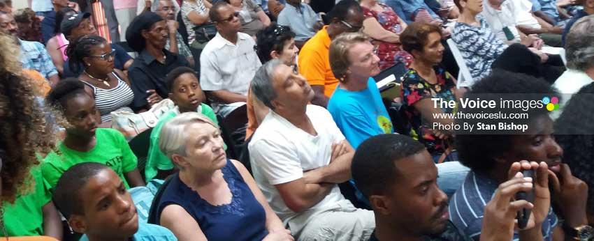 Image: A section of the gathering at the meeting. [PHOTO: Stan Bishop]