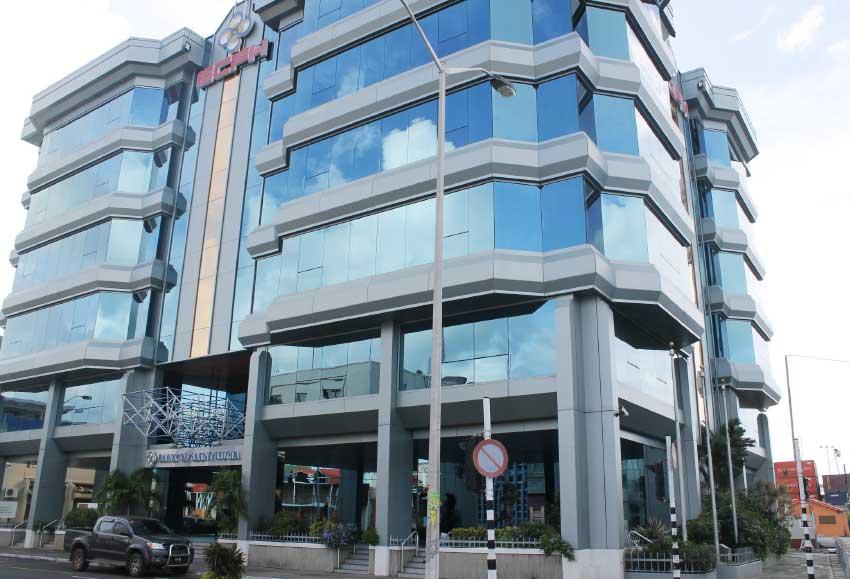Image: Bank of Saint Lucia building on Bridge Street. [PHOTO: Stan Bishop]