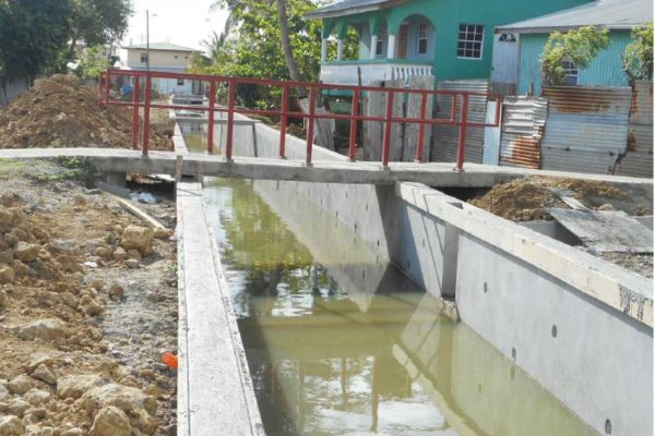 Image: Drainage system underway at Bacadere.