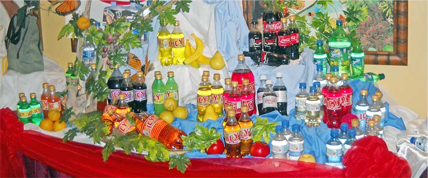 Image: DuBoulay Bottling Company's line of products.