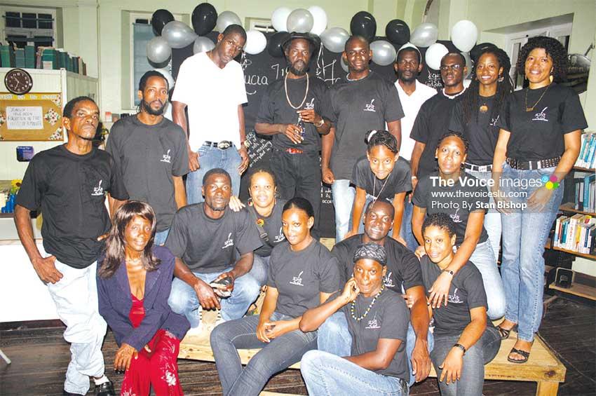 Image: Forum members being honoured on Literary Night in April 2010. [PHOTO: Stan Bishop]