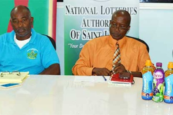 Image: (l-r) Gilroy Hall, Patrick Mathurin, Donavan Williams and Ryan O'Brian at Thursday's press briefing.(Photo: Anthony De Beauville)