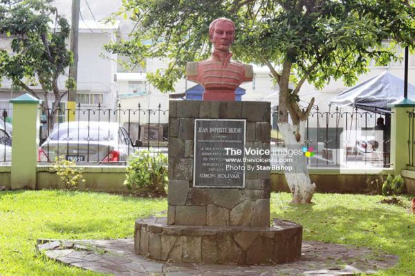 Image: Saint Lucian war hero, Jean Baptiste Bideau. [PHOTO: Stan Bishop]