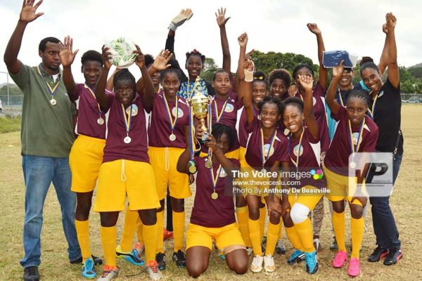 Image: Soufriere celebrate their victory (Photo: Anthony De Beauville)