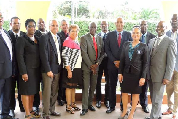 Image: Pictured above, St. Lucia League Board of Directors, CCCU Board of Directors, General Manager of CCCU and General Manager of St. Lucia Co-operative Credit Union League.