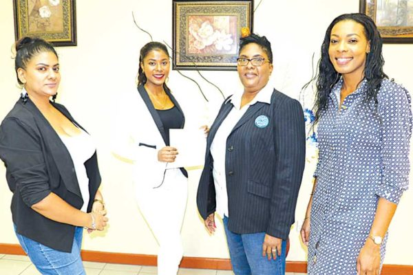 Image: (From left to right) Leria Daniel, Tyler Theophane, WendyTheophilus and Louise Victor.