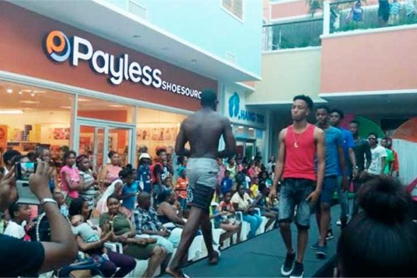 Image: Male models from AMMA Modelling Agency showing off pieces from popular local stores.