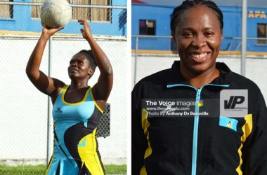 Image: Soufriere's Ianna Hippolyte and Canaries Judy Mathurin will be in action on Sunday. (Photo: Anthony De Beauville)