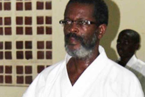 Image: Vice President of KFSL, Sensei Ezra Jn. Baptiste. (PHOTO: Anthony De Beauville)
