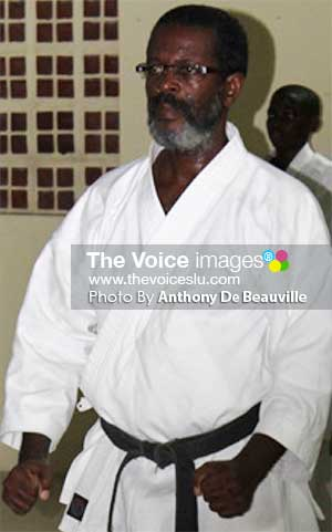Image: Vice President of KFSL, Sensei Ezra Jn. Baptiste.   (PHOTO: Anthony De Beauville)