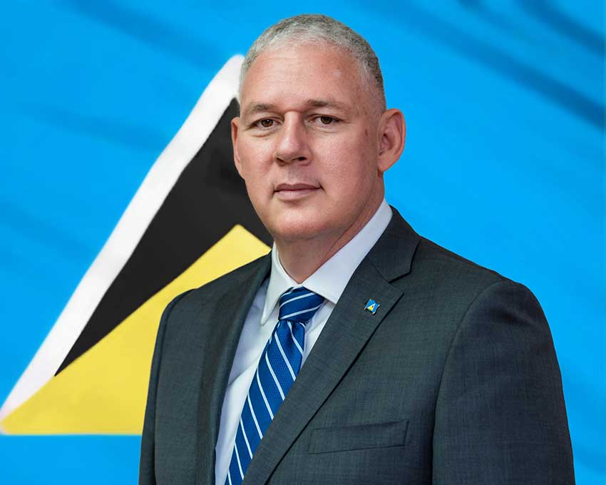 Image of Prime Minister and Minister for Finance, Economic Growth, Job Creation, External Affairs and the Public Service, Allen Chastanet