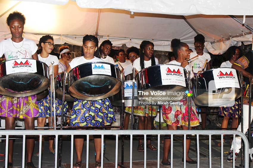 Image: Laborie Steel Pan Orchestra 'steel' the show.