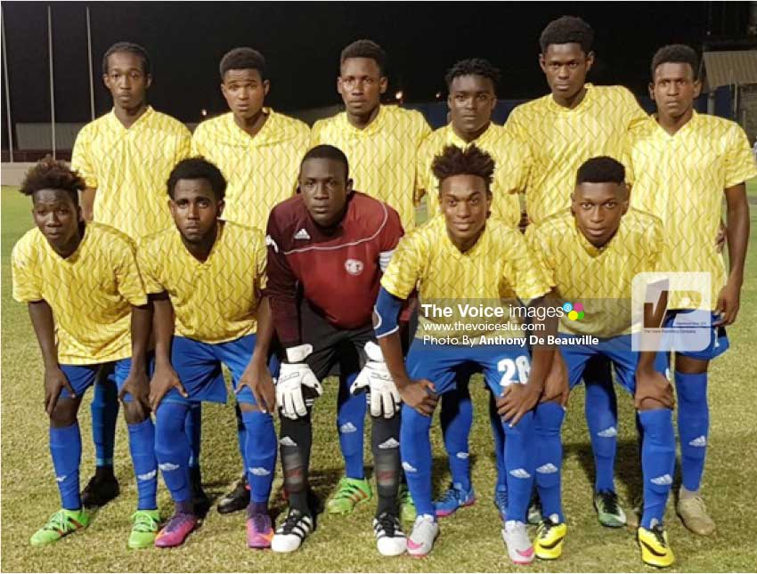 Image: Proud moment for National Under-21 team who are through to the semifinals against Central Castries. (Photo: Anthony De Beauville)