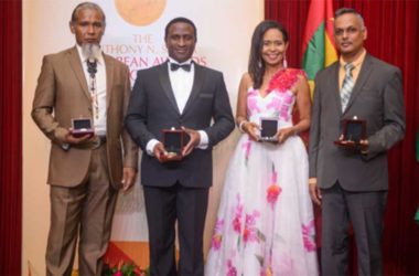 Image: Shadel Nyack Compton (second from right) with the other awardees.