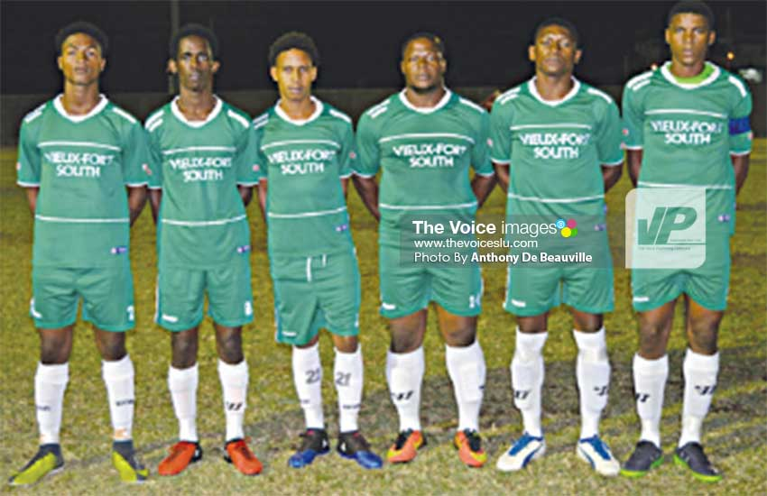 Image: (L-R) VFS's Noah Nicholas, Jervic McFarlane, Antonious Myers, Kemp Edgar, Duane Charles and SarnSavery.  (PHOTO: Anthony De Beauville)
