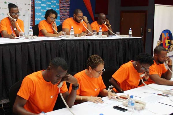 Image: BOSL staffers manning the phones at this year's NCF Telethon.