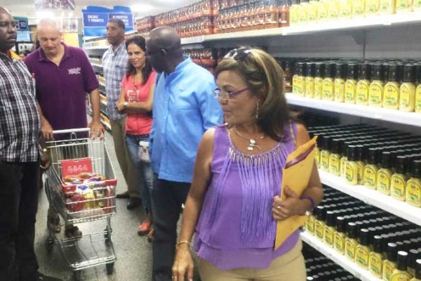 Image: Baron Foods products on shelves in Cuba.