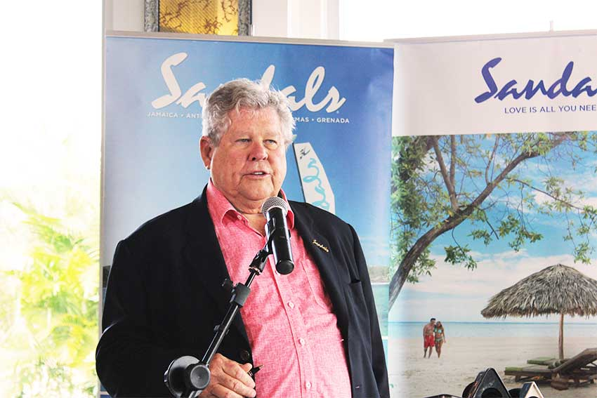 Image of Sandals Chairman, Gordon 'Butch' Stewart.