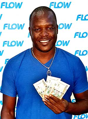 Image: Camron Laure of Laborie won $300.00 in the Flow Endless Everything Summer campaign!