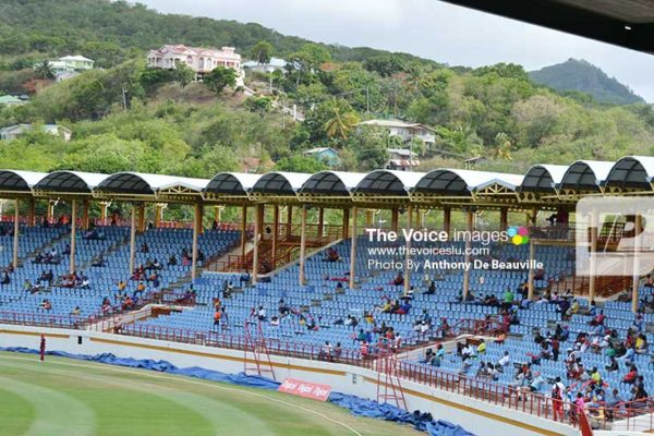 Image: Cricket lovers at the game on Sunday. (Photo: Anthony De Beauville)