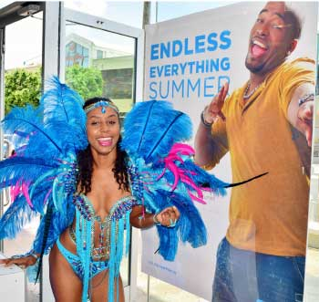 Image: Flow customers can win costumes from Legends Carnival Band in the Endless Everything Summer promotion.