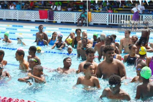 Image: Local swimmers taking a time-out at the RHAC. (PHOTO: Anthony De Beauville)