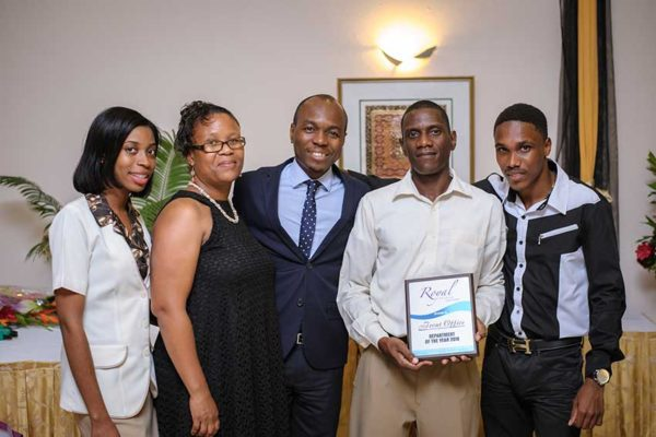 Image: Minister Fedee with Front Office team