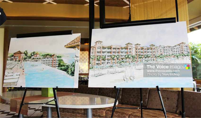 Image: Sketch art of the proposed Sandals LaSource St. Lucia. [PHOTO: Stan Bishop]