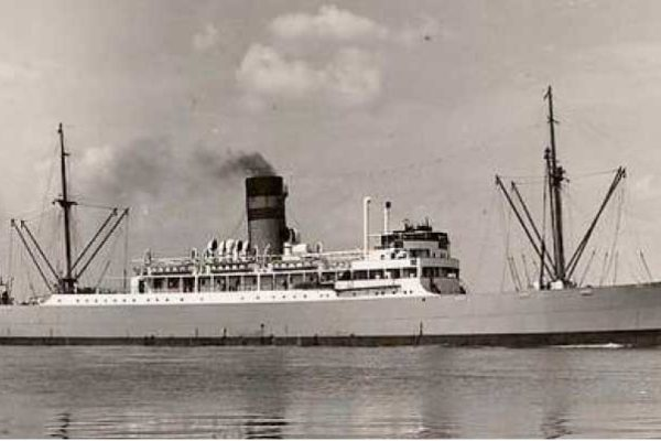 Image: The Umtata was torpedoed alongside the Lady Nelson in Castries all of 75 years ago on March 10, 1942 -- but that wasn't its only hit! (Photo courtesy of Library of Contemporary History, Stuttgart)